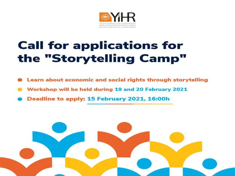 Call for Applications for the ''Storytelling Camp''