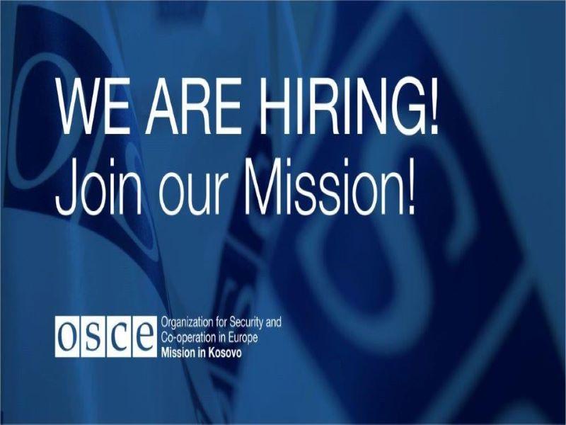 OSCE is Hiring