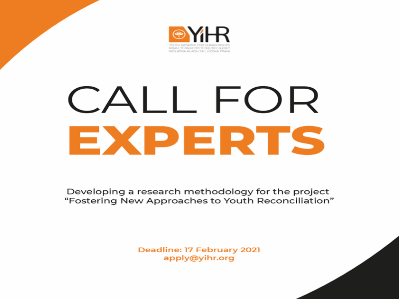 Open Call For Experts