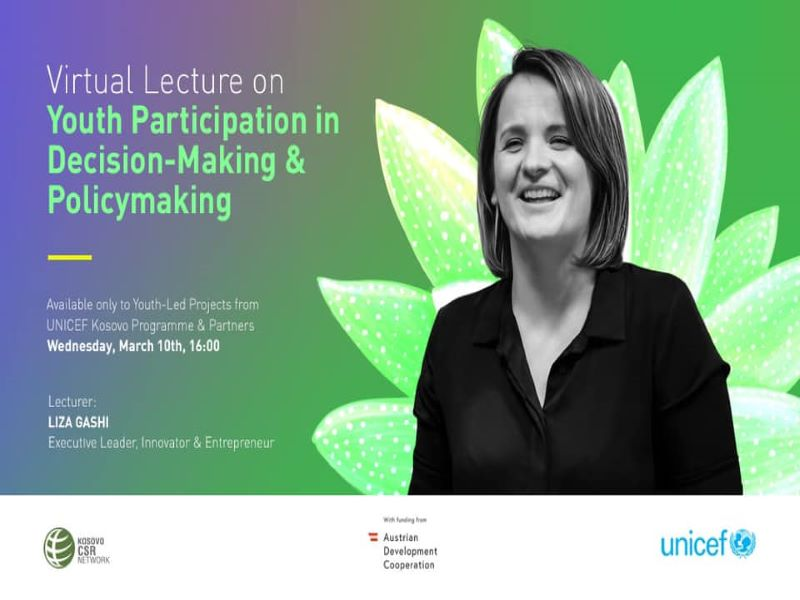 Virtual Lecture: Youth Participation in Decision-making and Policymaking