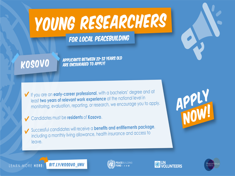 📣Calling for young researchers from Kosovo to apply!