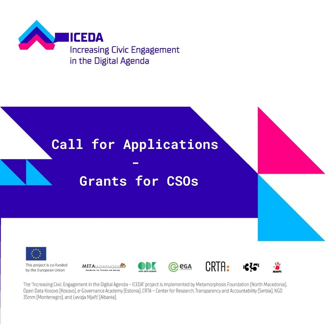 ICEDA Grant Call for Applications - LOT 2 Awarding of Grants for Digital Agenda Advocacy Initiatives