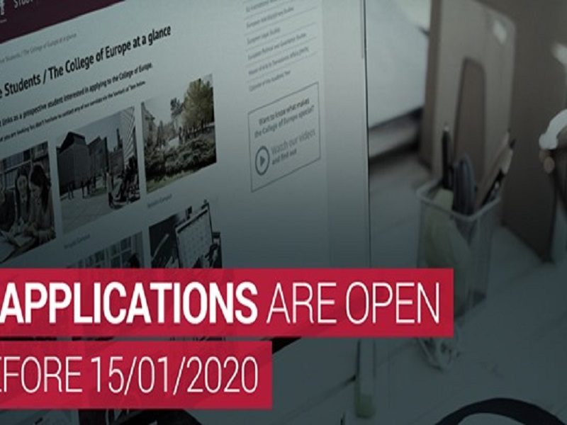 Applications to the College of Europe for the Academic Year 2020/2021 are Now Open!