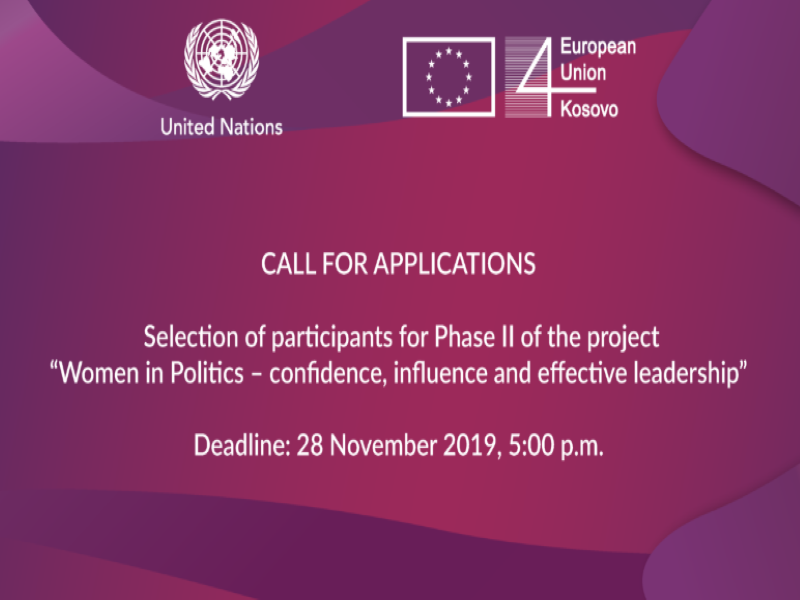 Call for Applications: Women in  Politics – Confidence, Influence and Effective Leadership