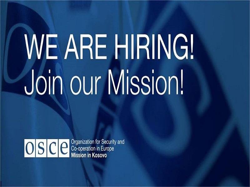 OSCE: We are Hiring!