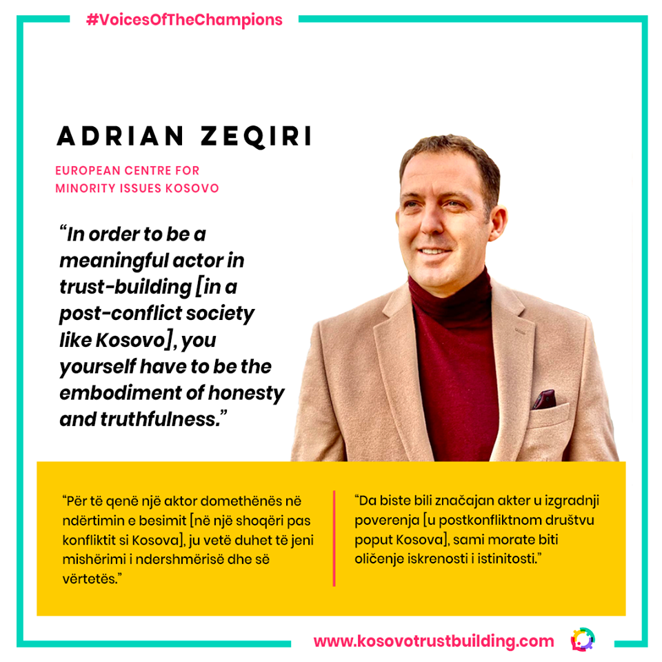 Adrian Zeqiri, Director of the European Centre for Minority Issues Kosovo is the #KTBChampion!