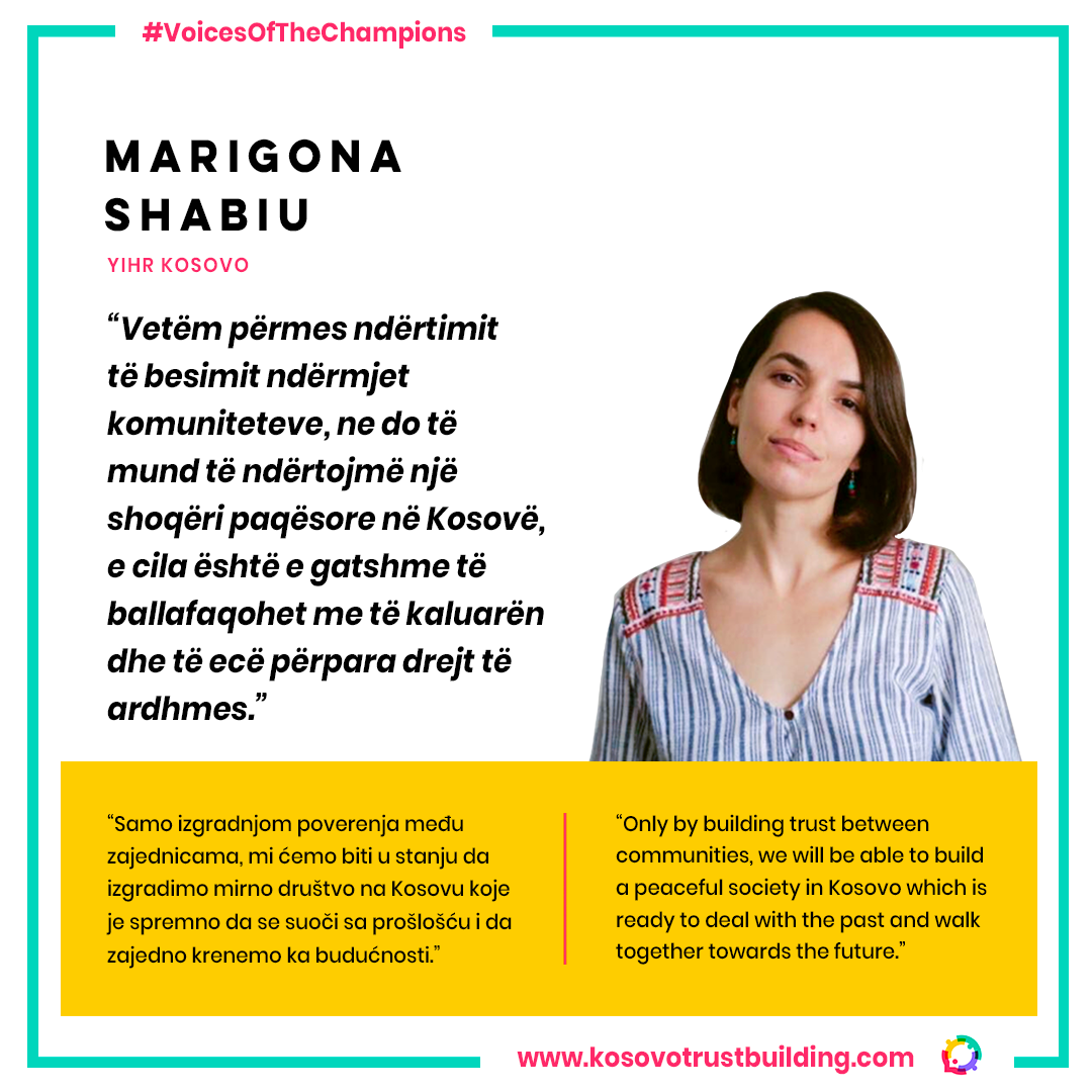 Executive Director at YIHR Kosovo, Marigona Shabiu is a #KTBChampion!