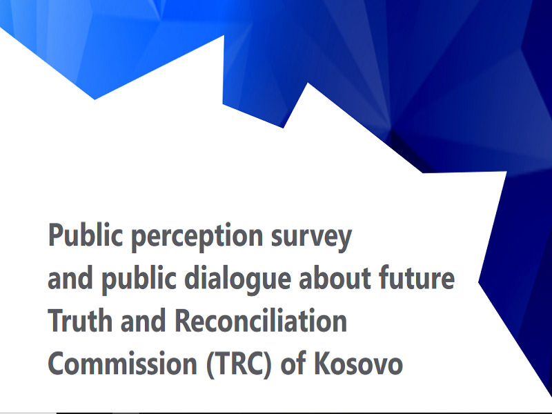 Public perception survey and public dialogue about future Truth and Reconciliation Commission (TRC) of Kosovo / Integra_NSI