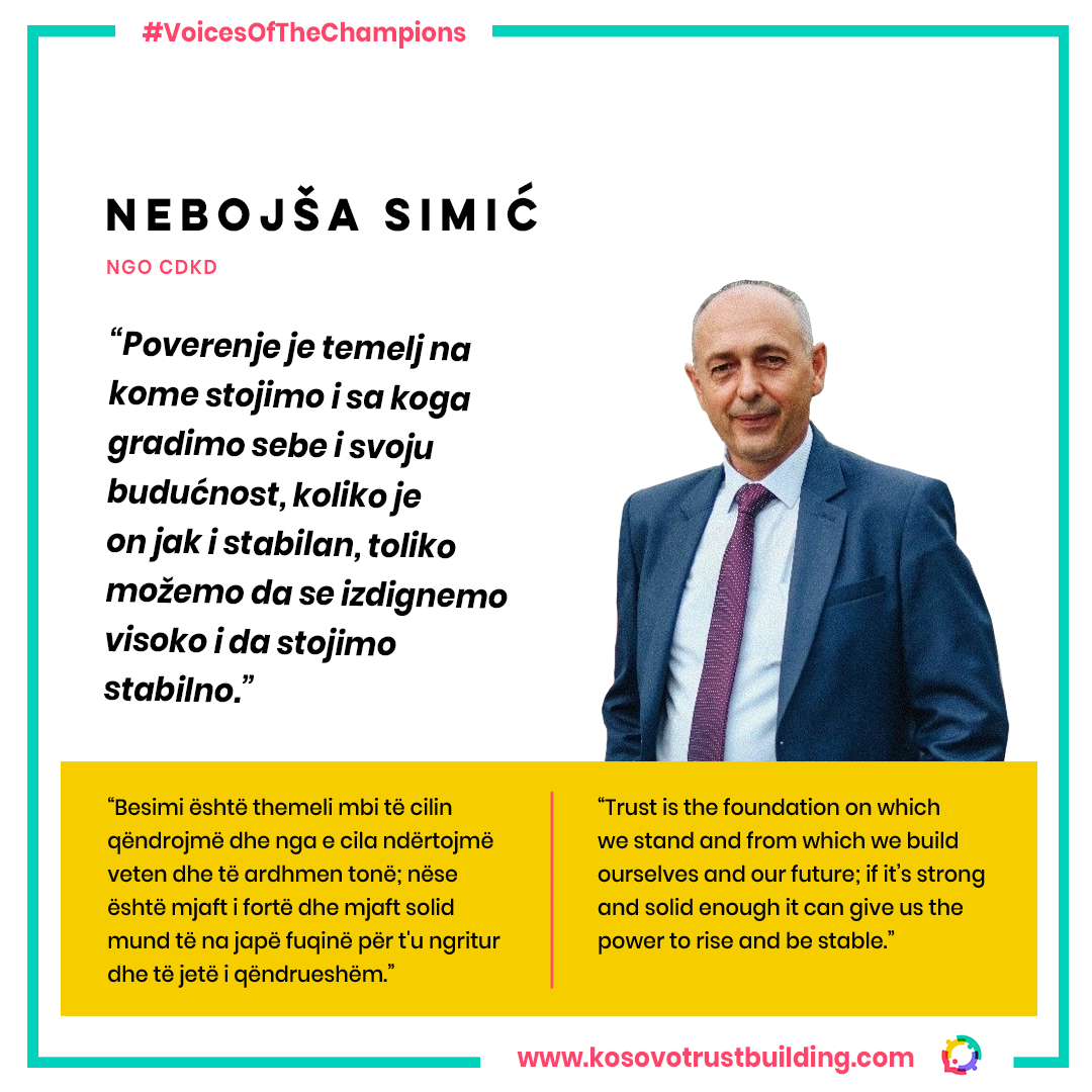 Executive director at NGO CDKD , Nebojša Simić is a #KTBChampion!