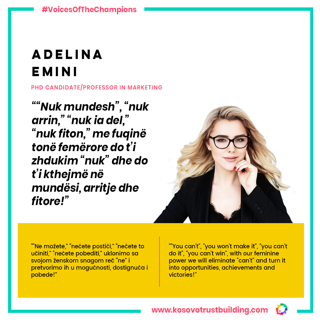 PhD Candidate and Professor in Marketing, Adelina Emini is a #KTBChampion!